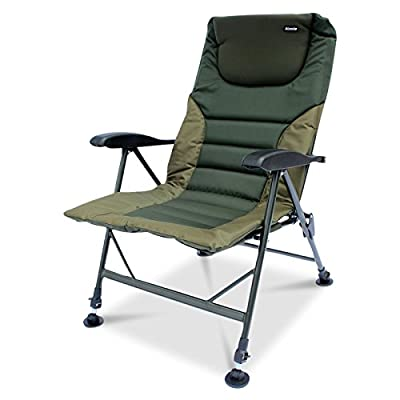 Abode® Air-Lite™ Alloy Padded Easy-Arm™ Carp Fishing Camping Recliner Chair by Koala Products®