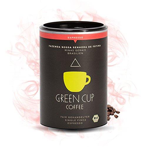 Green Cup Coffee Nossa Senhora - fair gehandelter Bio Arabica Espresso - mittelstarker...