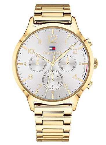 Tommy Hilfiger Unisex Multi Zifferblatt Quarz Uhr mit Edelstahl Armband 1781872