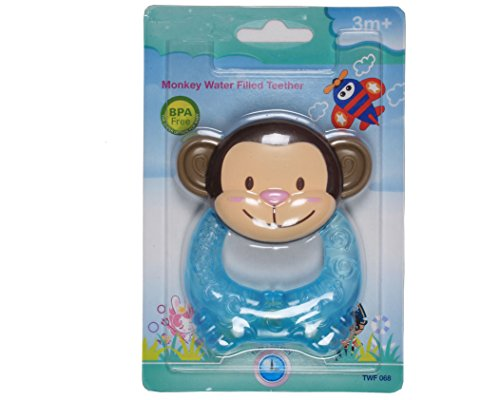 Ole Baby Bpa Free Cute, Colorful, Lightweight And Durable Monkey Shaped Teether, Soother For Infants 3-6 Months.