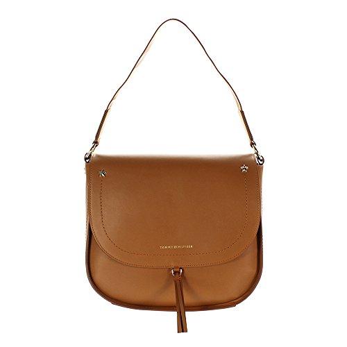 Preisvergleich Produktbild Tommy Hilfiger City Leather Satteltasche cognac 27cm