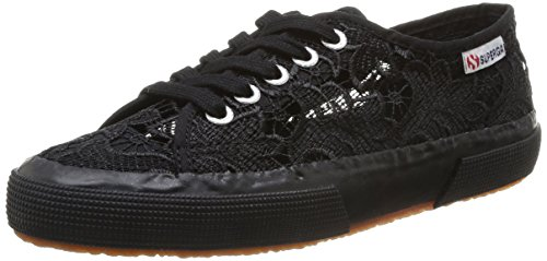 Superga 2750 MACRAMEW, Sneakers basses mixte adulte - Noir - Schwarz (Full Black S996), Taille 38 EU