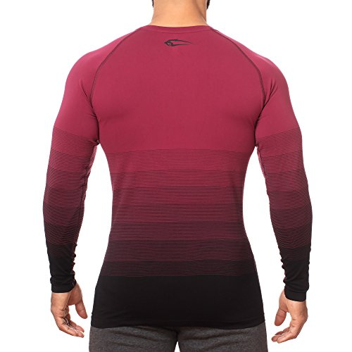SMILODOX Herren Seamless Longsleeve Definition Bordeaux