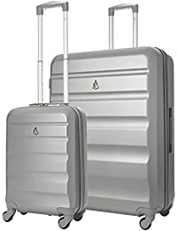 4acb02c8ed32 Aerolite Super Lightweight 3 Piece ABS Hard Shell Travel Suitcase Luggage  Set with 4 Wheels