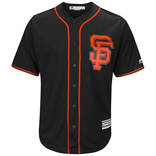 Majestic San Francisco Giants Cool Base MLB Trikot Alternate Schwarz, M (Jersey Baseball Majestic)