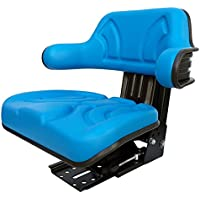 Tractor Asiento schlepper Asiento New Holland Ford Oldtimer Asiento PVC Azul Compatible Con