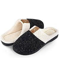 Inverno Pantofole Donna Peluche Cotone Scarpe da Casa Morbido Antiscivolo  Caldo Comode Memoria Schiuma Pantofole per 3ec7708945e