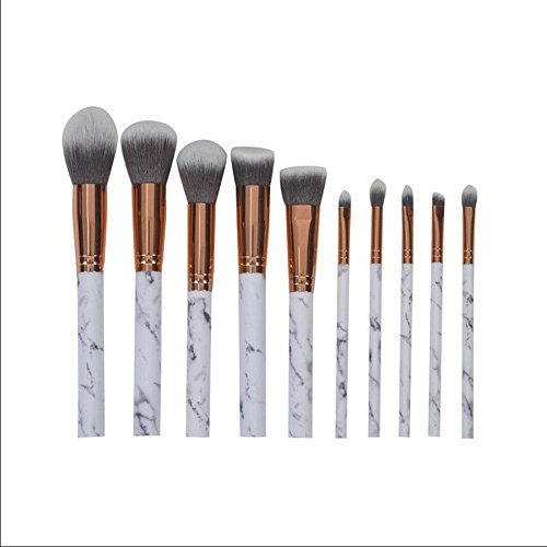 SMX&xh 10Pcs Pinceau De Maquillage Set Motif En Marbre Outil De Brosse à MéLanger Liquid Foundation Foundation