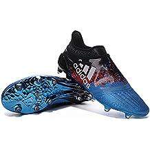 Botines de fútbol para hombre, color azul, de Yurmery Shoes X 16 Purechaos FGAG
