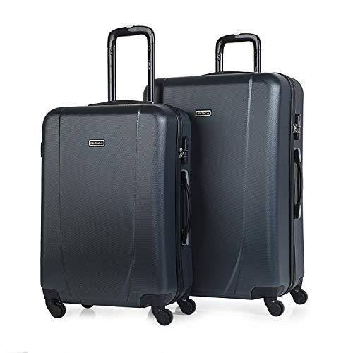 ITACA - Maletas de Viaje Rígidas 4 Ruedas Trolley ABS. Pequeña Cabina Mediana y Grande XL. Práctica Cómoda Ligera y Resistente. Calidad Marca y Diseño. Juego. Low Cost Ryanair.