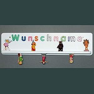 Regal für Toniebox Figuren Tonie Tonies ® mit Wunschnamen Name – weiß
