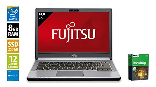 Fujitsu LifeBook E744 | Notebook | Laptop | 14,0 Zoll (1600x900) | Intel Core i7-4610M @ 3,0 GHz | 8GB DDR3 RAM | 250GB SSD | DVD-Brenner | Webcam | Windows 10 Home (Zertifiziert und Generalüberholt)