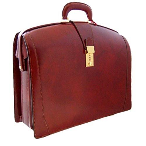 Pratesi Brunelleschi italienischem Leder Laptoptasche - R120/B Radica (Chianti) -