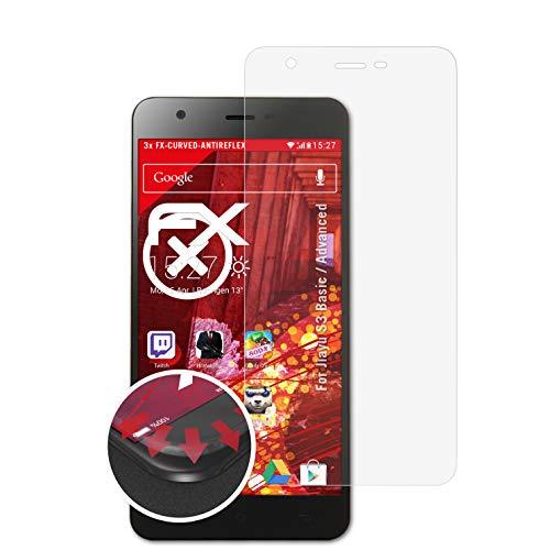 atFolix Schutzfolie passend für Jiayu S3 Basic/Advanced Folie, entspiegelnde & Flexible FX Bildschirmschutzfolie (3X)
