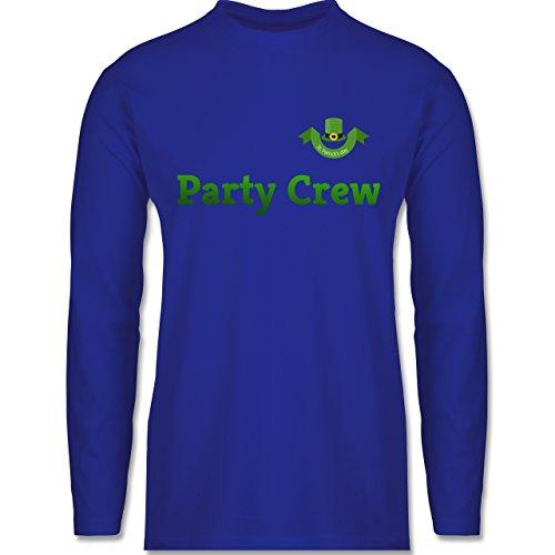 Festival - St. Patricks Day Party Crew - Longsleeve / langärmeliges T-Shirt für Herren Royalblau