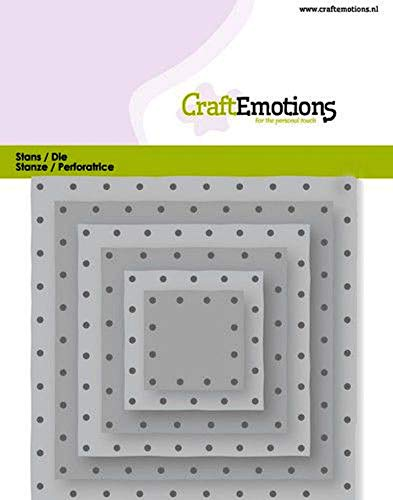 Craft Emotions Stanzschablone Quadrate Vintage - Nieten 11x9cm - 2,8-9,1cm 11 X 11-quadrat