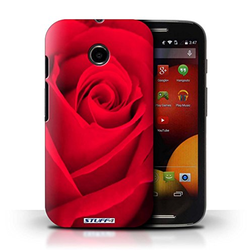 Kobalt® Imprimé Etui / Coque pour Motorola Moto E (2014) / Rose conception / Série Rose Rouge