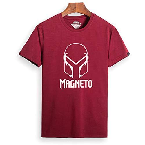 YXRL Männer Hohe Qualität Baumwolle Kurzarm Sommer Rundhals Wolverine Persönlichkeit T-Shirt Red B-M