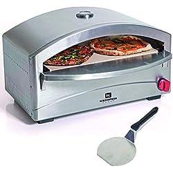 Barbecue gaz four a pizza unique - cuisson sur pierre réfractaire- 4,8 kW - 400°C en 5 mn - structure inox - allumage piezo