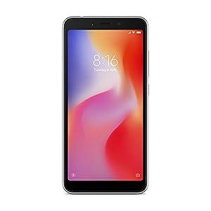 """Xiaomi Redmi 6A - Smartphone de 5.45"""" (Quad-Core 2.0 GHz, RAM de 2 GB, memoria de 16 GB, cámara de 13 MP, Android 8.1) color gris [versión española]"""