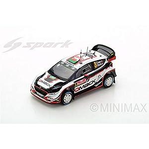 SPARK-Coche en Miniatura de colección, s5174, Color Blanco/Negro/Rojo