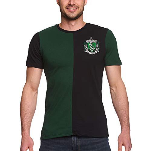 Harry Potter Herren T-Shirt Slytherin Tournament Baumwolle grün schwarz - XL