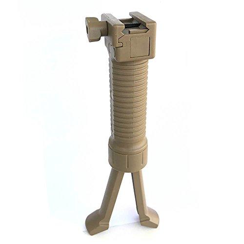 WorldShopping4U Tir tactique poignée Airsoft Paintball Weaver Facile Bouton bipied Fore Grip ajustement 20mm RIS rail