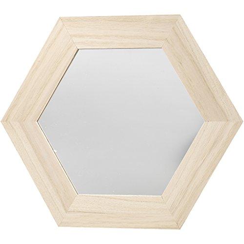 Marco espejo, hexagonal, medidas 26x26 cm, tallar: