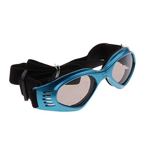 SunniMix Kühle Hundewelpen Haustier Schutzbrillen Anti Wind Sonnenbrille Authentischer UV Augenschutz - Blau