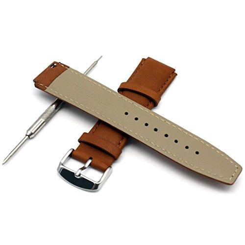 Huawei Watch Cinturino in pelle-Rerii 18mm di larghezza, rilascio rapido, cinturino in pelle, cinturino per Huawei Smart Watch, Fit Huawei Watch