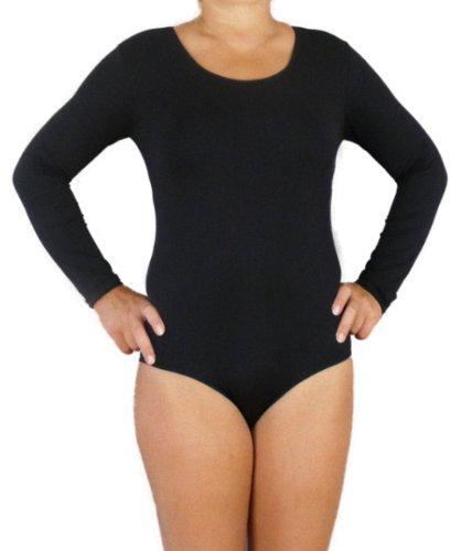 Langarm-Öse (R-Dessous Langarm Damen Body Microfaser Sport Overall Ballett schwarz Groesse: S/M)