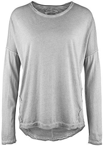 Damen Shirt Langarm Gray