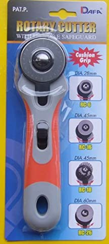 DAFA 45 mm Soft Grip Rotary Cutter, Multi-Colour
