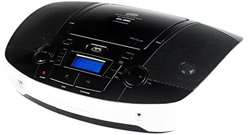 Elbe GPM-225-BT - Radio CD con MP3, USB y Bluetooth, color blanco y negro