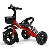 SSLC Triciclos Bebes 3 AñOs Bebé con Mango Trike Smart Bici para Niños,Neumáticos para Coches y Conducción Silenciosa,18 Meses - 5 Años,hasta 30kg, Red