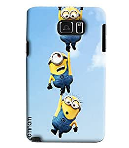 Omnam Minion Flying Printed Designer Back Cover Case For Samsung Galaxy Note 5