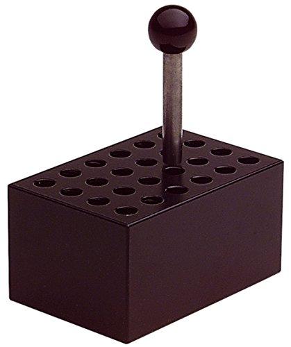 neoLab 2-2507 Heizblock Alu, 24 Vertiefungen Durchmesser 6 mm für Reagenzgläser, Aluminium