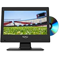 Xoro PTC 1250 31.75 cm (12.5 Zoll) Tragbarer DVB-T/DVB-T2 Fernseher mit integriertem DVD Player (DVB-T2 Tuner, H.265/HEVC-Dekoder, CI+ Schacht und USB Mediaplayer) schwarz