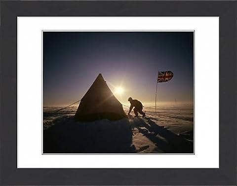 Framed Print of Blizzard on the Polar plateau, Antarctica, Polar Regions
