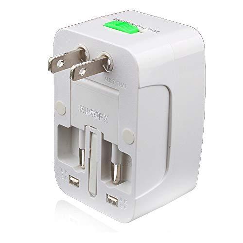 NaiCasy Tragbare Travel Adapter weltweit All in One Universal Power Adapter AC-Stecker Internationale Ladegerät für Männer und Frauen - weiß, Computer-Zubehör
