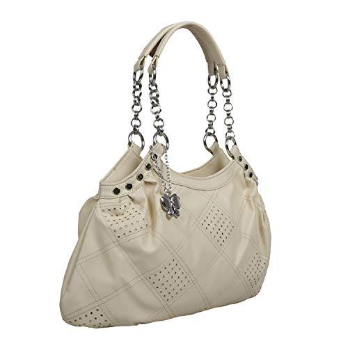 Butterflies Women's Handbag (Beige) (BNS 0346)