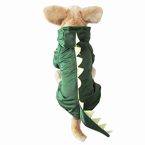 Icegrey Drache Haustier Kostüm Hunde Dinosaurier Overall Kleidung Grün (Kostüme Grün Dinosaurier Hund)
