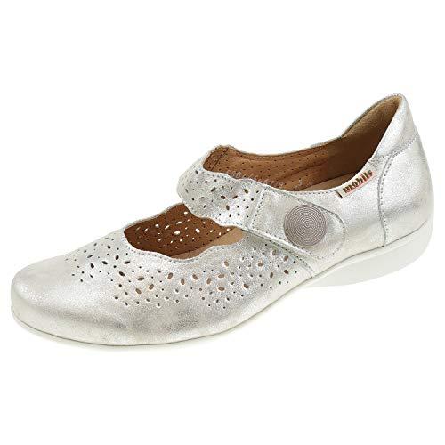 326cfda9bda004 Mobils Ergonomic by Mephisto Fabienne F1402 Off White Ballerina -  Zapatillas para Mujer, Color Beige