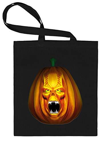 Golebros Halloween Killer Kürbis Pumkin Face 5962 Süßigkeiten Bonbons Tasche Stoffbeutel Tragebeutel Beutel Kinder Schwarz