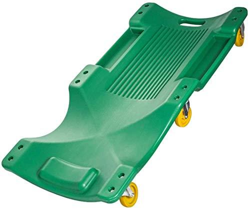 MAQLKC Werkstatt-Rollbrett, Auto Creeper-Board mit Gepolsterte Kopfstütze & Doppelwerkzeugwannen - 350 Lbs Kapazität blasgeformten Ergonomischer HDPE Körper