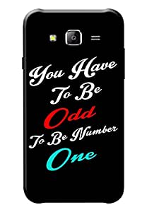 KanvasCases Printed Quotes Back Cover For Samsung Galaxy J7
