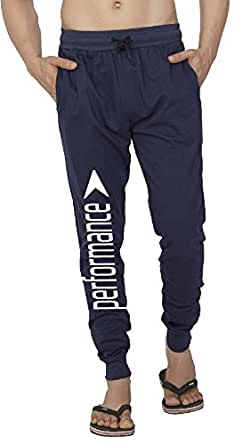 Clifton Mens FRL Printed Ribbed Slimfit Trackpant-Navy-White Performance-S