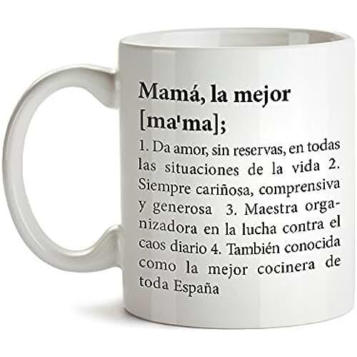 taza del dia de la madre Taza con mensaje – Definición original de la mejor mamá – Estándar – Tazas de café divertidas e ideales para regalar en el Día de la Madre – Regalos para cumpleaños