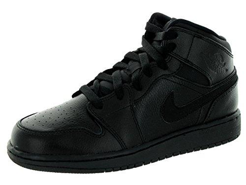 Nike Jordan 1 (BG) Jungen Basketballschuhe Schwarz