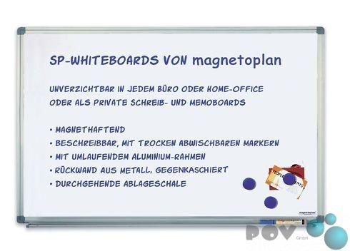 Preisvergleich Produktbild POV® Whiteboard SP, 120 x 220 cm, lackierte Oberfläche